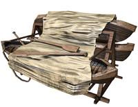 canoe rack ready 3d max