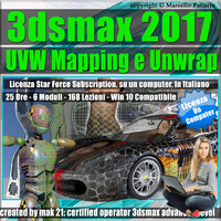 3ds max 2017 UVW Mapping e Unwrap Locked Subscription, un Computer