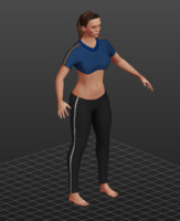 3d model workout girl