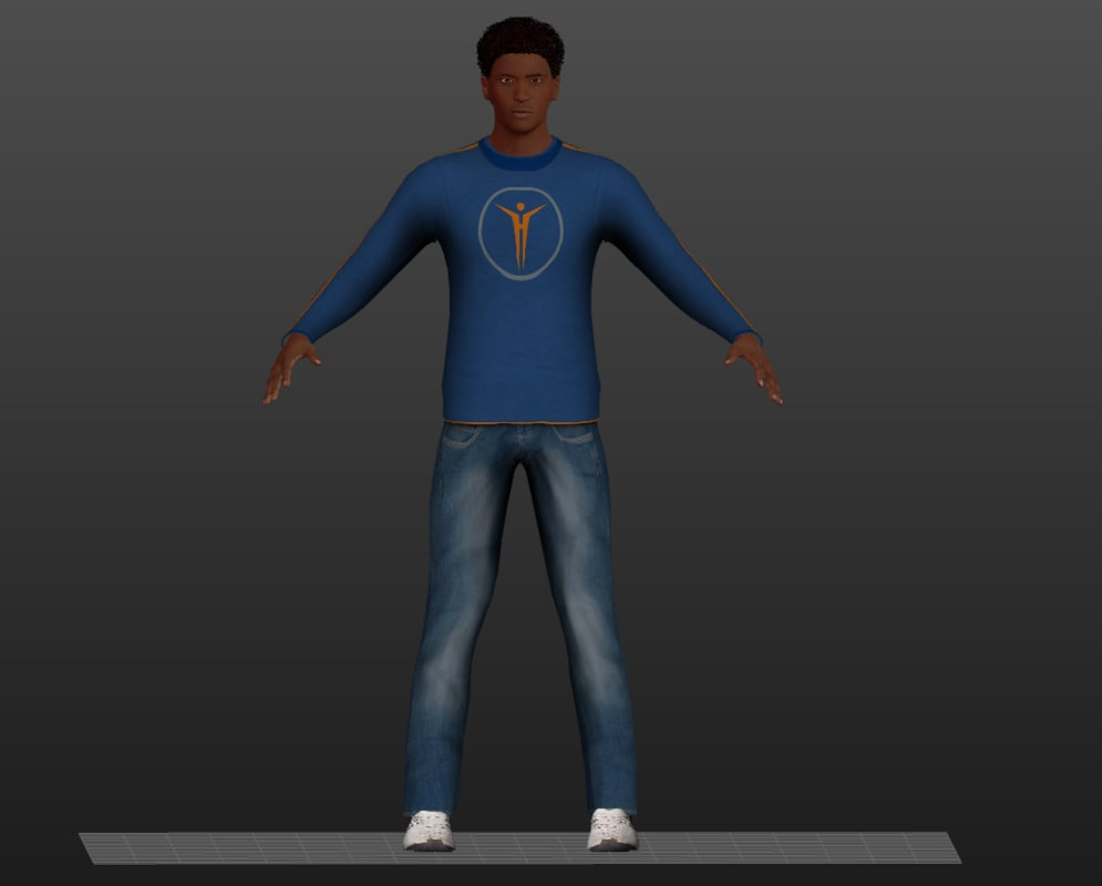 africa man 3d model