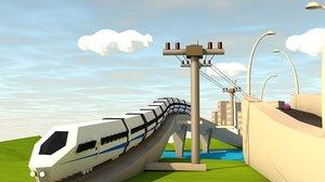 c4d cities train