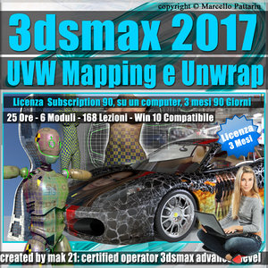 3ds max 2017 UVW Mapping e Unwrap 3 mesi Subscription 1 Computer
