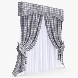 3d curtain modeled
