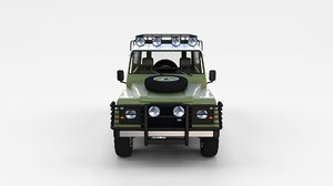 3d land rover defender 110 model