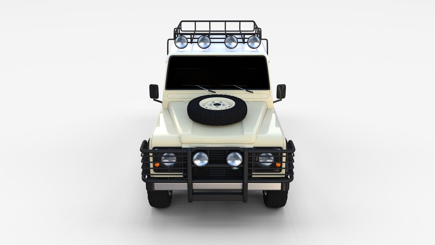 3d model land rover defender 110