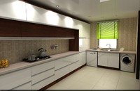 kitchen modern cabinet 3d model
