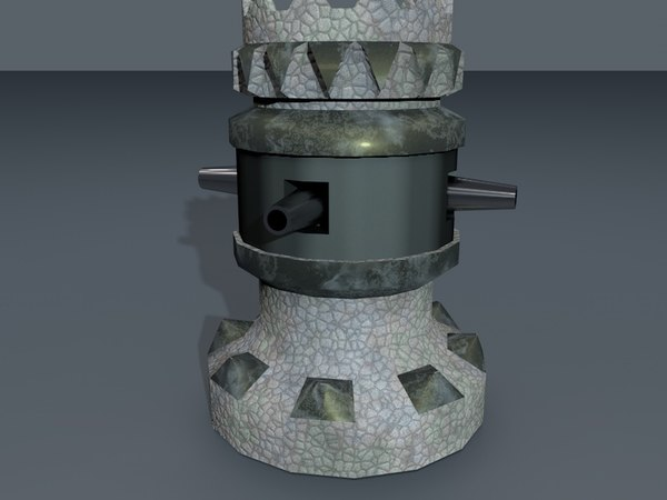 3d 4-sided tower model