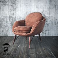 3d model chair armchair loft