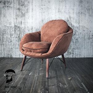 3d model chair armchair loft
