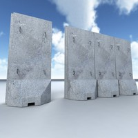 t-wall barrier 3d model