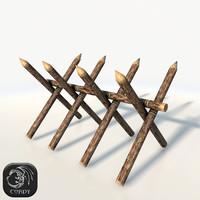 log barricade 3d model