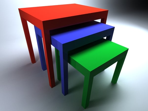 3d color coffee table model