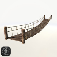 Rope bridge low poly