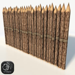 3d wooden stockade