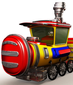 3d model train cartoon art