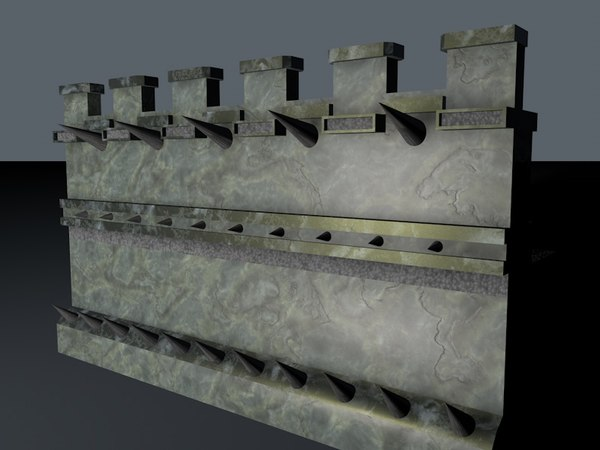 archer wall spikes 3d c4d