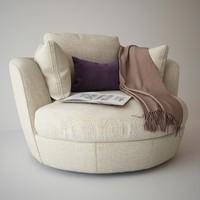 3d armchair snuggle
