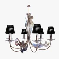 chandelier bakara lucecrea 3d max