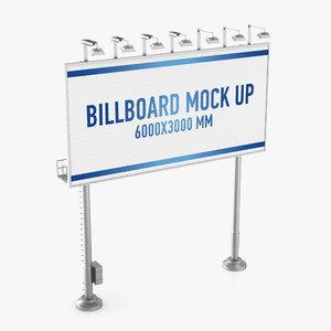 billboard advertising 3d model