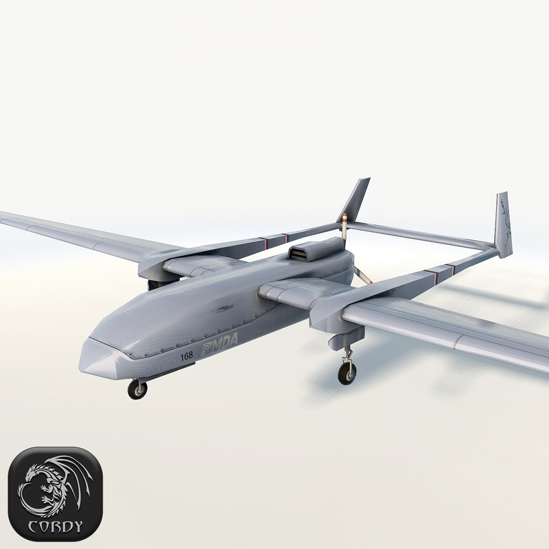3d model fighter drone uav