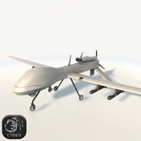 3d predator fighter drone uav model