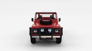 3d land rover defender 110 model