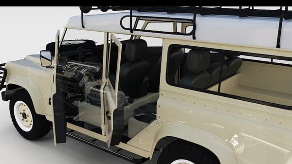land rover defender 110 3d model