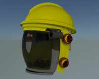 hazmat helmet 3d model