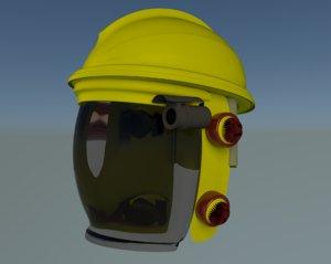 hazmat helmet 3d model