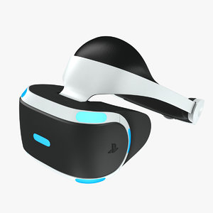 sony playstation goggle 3d model