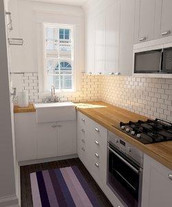 3d max interior home kitchen scene