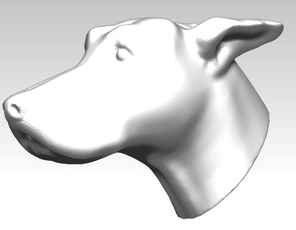 greyhound dog racing 3d obj