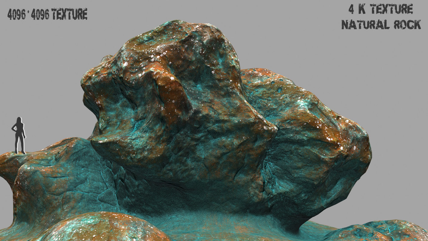 3d model mountain rock 1