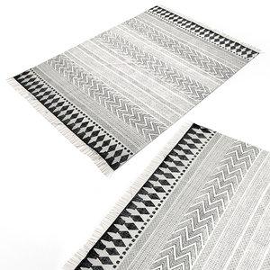 3d model scandinavian carpet