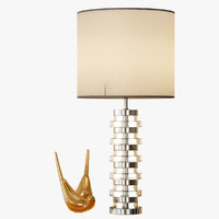 clear disc table lamp 3d 3ds