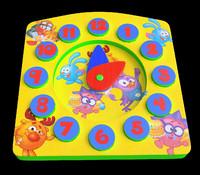3d children clock