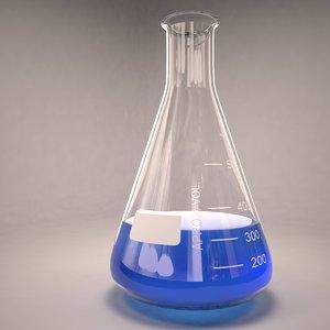 erlenmeyer fluid glass 3ds