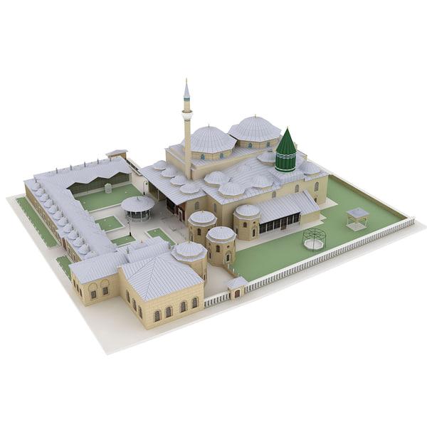 3d museum mausoleum model