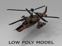 russian ka-50 helicopter 3d obj