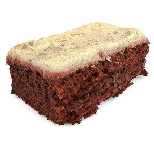 red velvet cake 3d obj