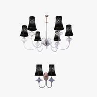 3d chandelier wall light class model