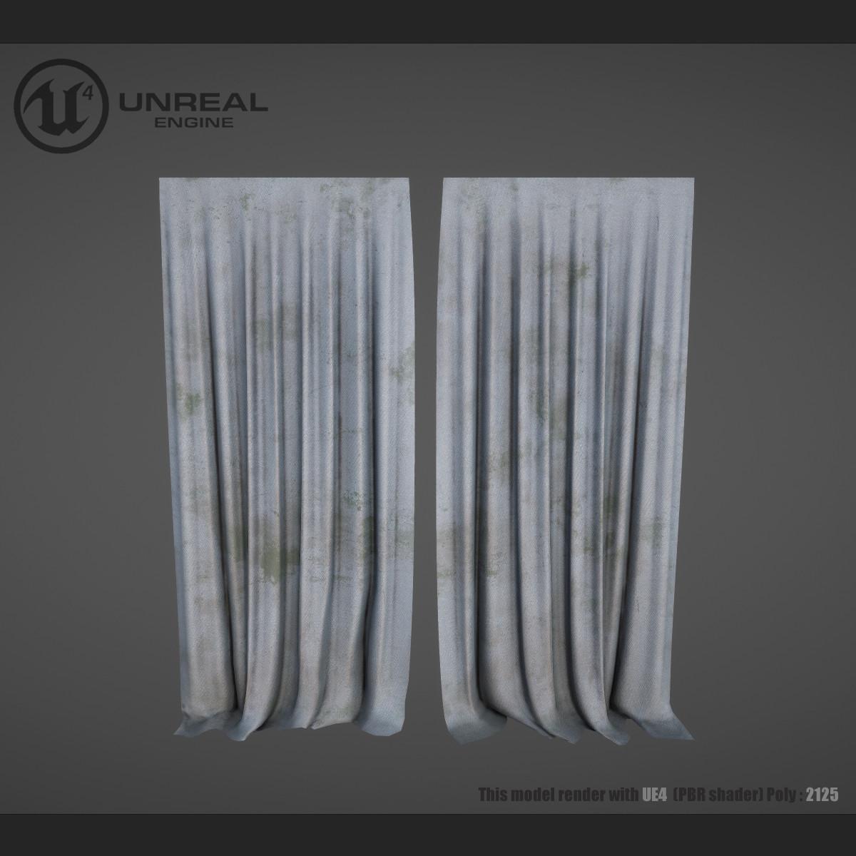 curtain dirty 3d max