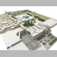 qubbat al-aqsa mosque jerusalem 3d max