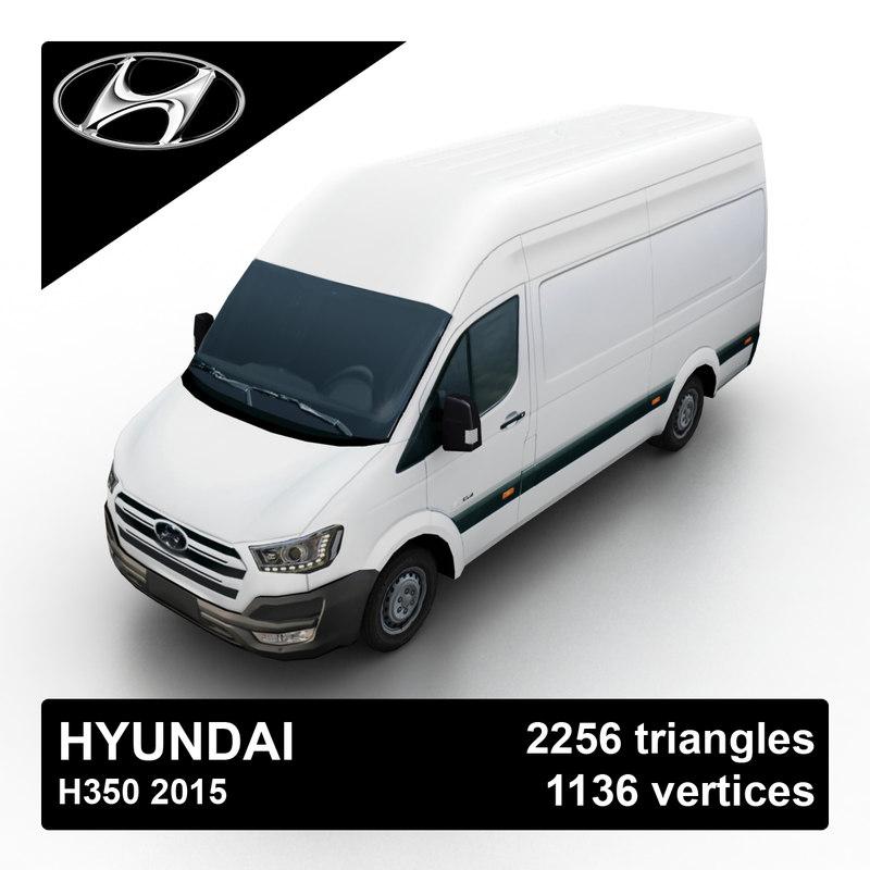 3d model 2015 hyundai h350 van