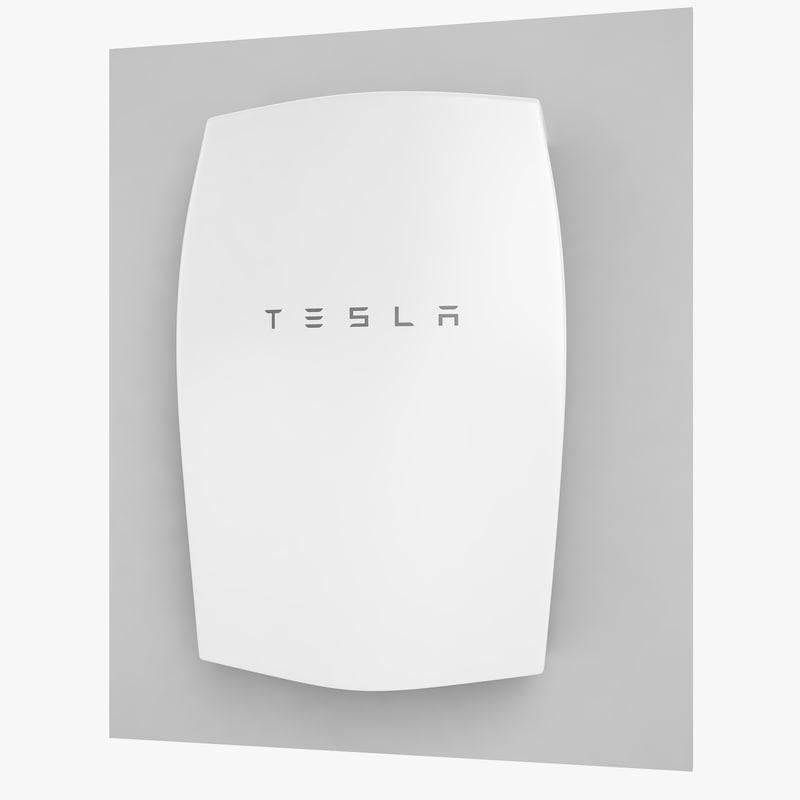 tesla powerwall power 3d 3ds