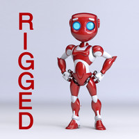 Iron Girl Robot rigged