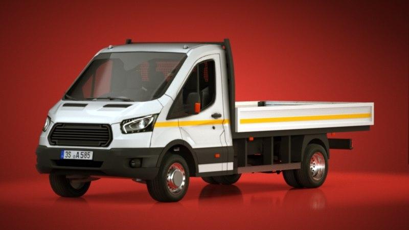 3d generic dropside vans