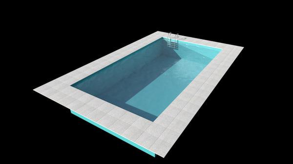 swiming pool 3d model