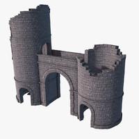 castle gate ruins max