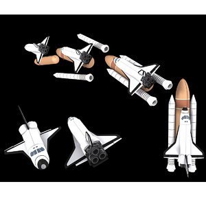 space craft shuttle 3d max